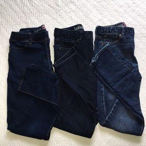 Lot of 3 Pairs of Gap Kids Skinny & Legging Jeans